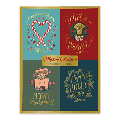 Holly Day Deluxe Holiday Notecards