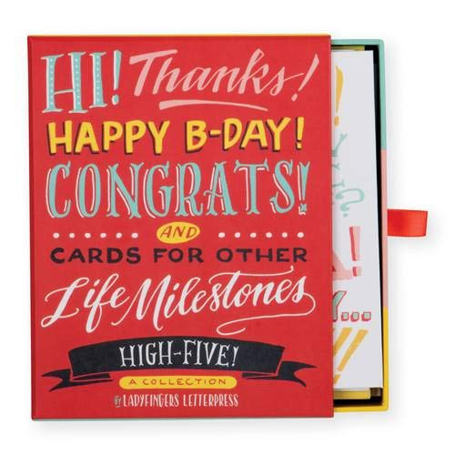 Ladyfingers Letterpress High Five Greeting Card Assortment