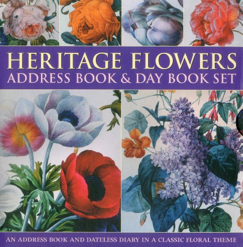 Heritage Flower Address Book & Day Book Set