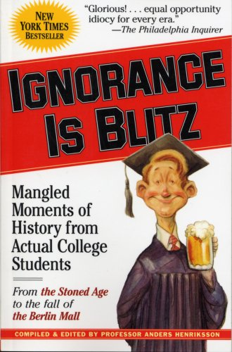 Ignorance Is Blitz: Mangled Moments of History from Actual College Students