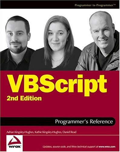 VBScript Programmer's Reference, 2nd Edition (Programmer to Programmer)