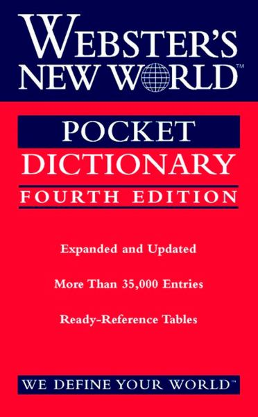 Webster's New World Pocket Dictionary (4th Edition)