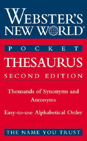Websters New World Pocket Thesaurus (Second Edition)