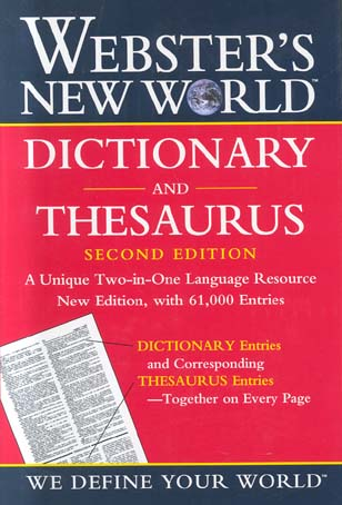 Dictionary and Thesaurus (Webster's New World, 2nd Edition)
