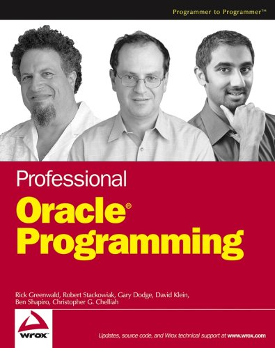 Professional Oracle Programming (Wrox Professional guides)