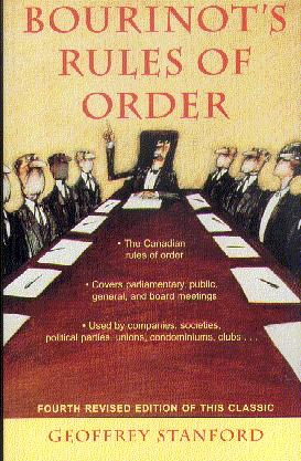 Bourinot's Rules of Order (Fourth Edition)