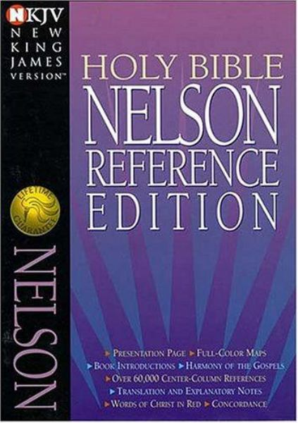 Nelson Reference Bible (NKJV, 3005BG, Thumb Indexed, Burgundy Bonded Leather, Gilded-Gold Page Edges)
