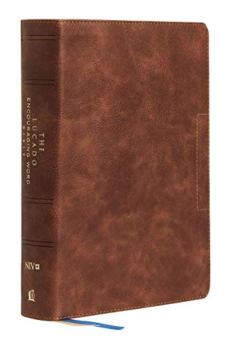NIV, Lucado Encouraging Word Bible (Thumb Indexed, 9563 - Brown Leathersoft)