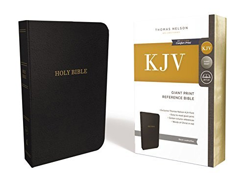 KJV Giant Print Reference Bible (7843A, Black Leathersoft)