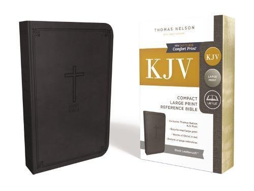 KJV Compact Large Print Reference Bible (3843BK, Black Leathersoft)