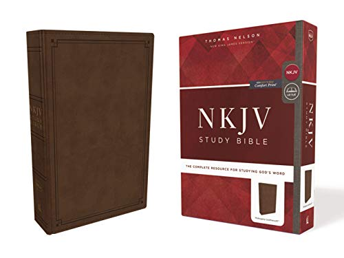 NKJV Study Bible (3543MA, Mahogany Leathersoft)