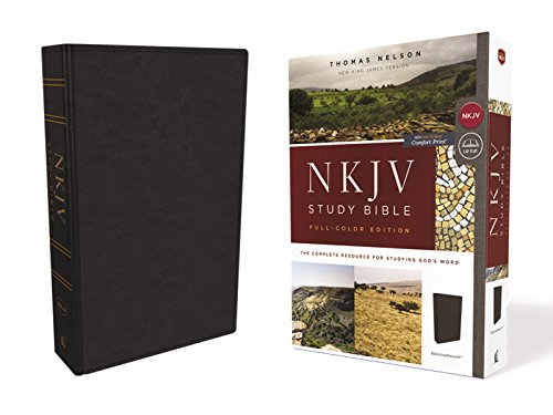 NKJV Full-Color Study Bible (4543BK, Black Leathersoft)