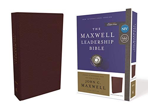 NIV The Maxwell Leadership Bible (7185BRG, Burgundy Bonded Leather, 3rd Edition)