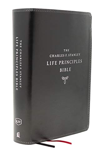 KJV The Charles F. Stanley Life Principles Bible (8463BK Black Leathersoft, 2nd Edition)