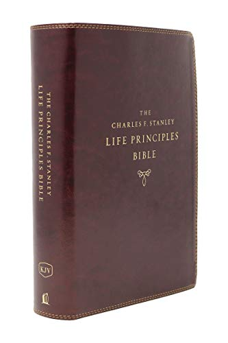 KJV Charles F. Stanley Life Principles Bible (Second Edition, Thumb Indexed 8463BRG - Burgundy Leathersoft)