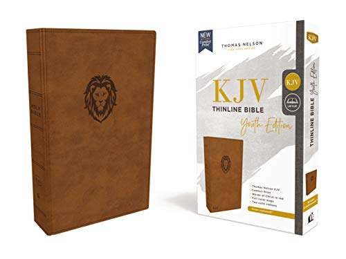 KJV Thinline Bible Youth Edition (7193BRN, Brown Leathersoft)