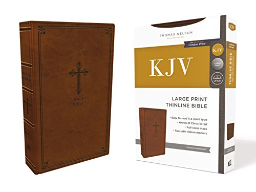 KJV Thinline Bible (Large Print, Chestnut Leathersoft)