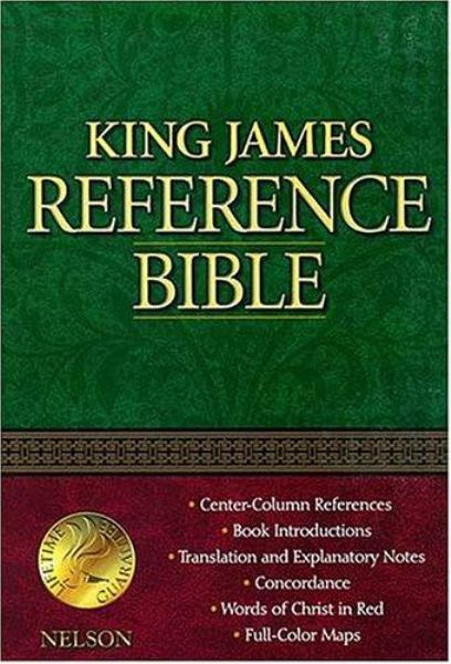 King James Reference Bible (KJV, 2005B, Navy Blue Bonded Leather, Gilded-Silver Page Edge)