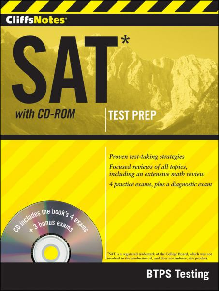 SAT with CD-ROM: Test Prep (Cliffsnotes)