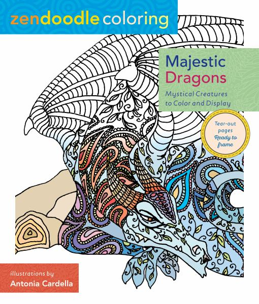 Majestic Dragons (Zendoodle Coloring)