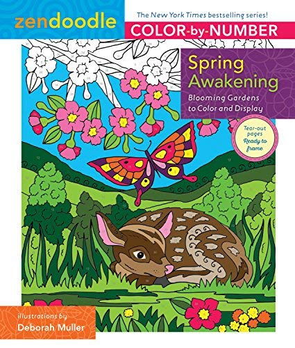 Spring Awakening (Zendoodle Color-by-Number)