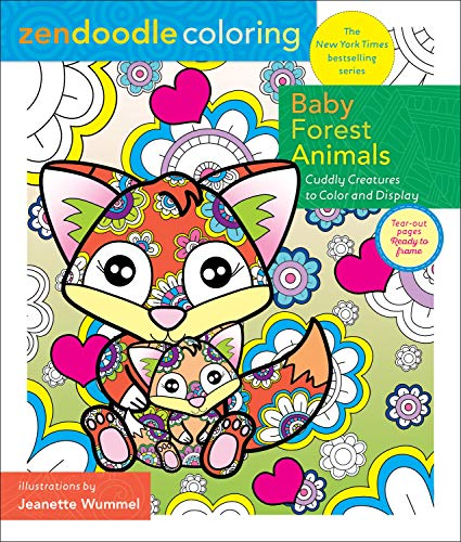 Baby Forest Animals Zendoodle Coloring