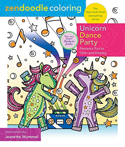 Unicorn Dance Party (Zendoodle Coloring)