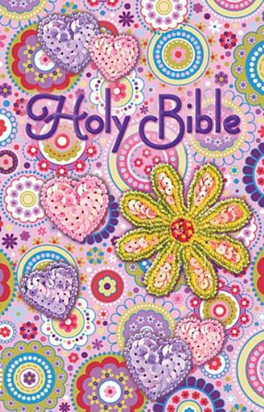 Holy Bible (ICB, Pink Shiny Sequin Bible)
