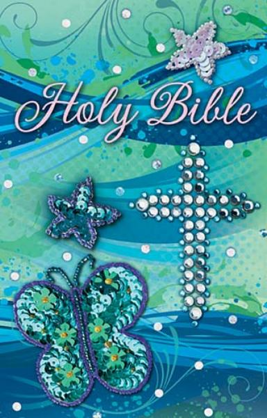Holy Bible (ICB, Shiny Sequin-Teal)
