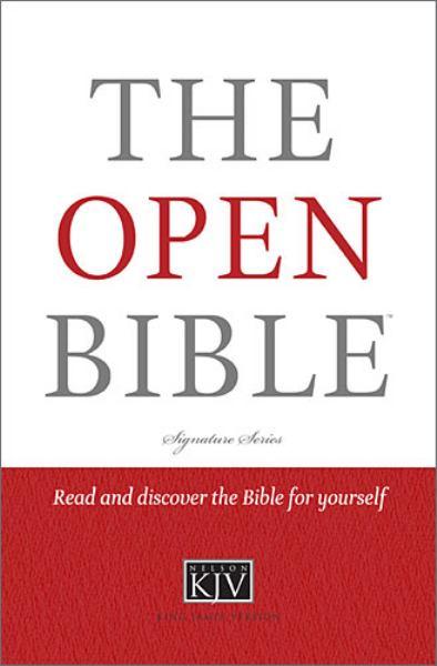 The Open Bible (0672RP, KJV/Study)
