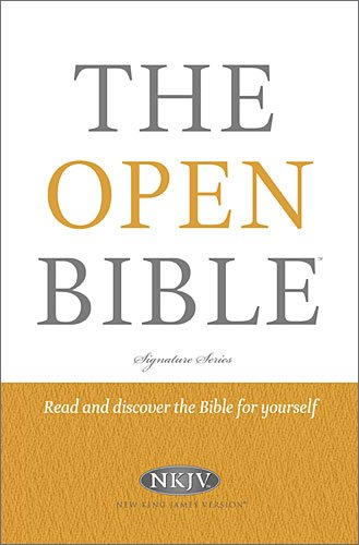 The Open Bible (NKJV/Study, 0452RP, Signature Series)