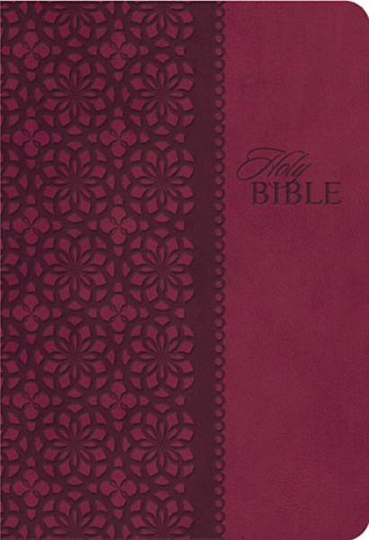 King James Study Bible (0133NC - Cranberry Leathersoft, KJV, Second Edition)