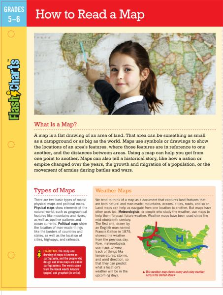 How to Read a Map (FlashCharts, Grades 5-6)