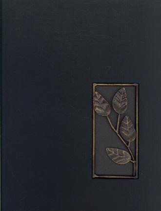 Magnetic Photo Album Binder (Black/Leaves)