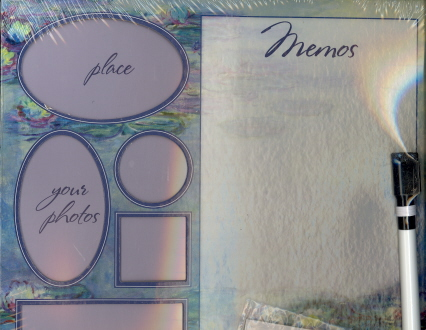 Wipe-Off Memo Board (Lilly Pad)