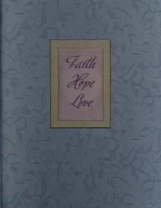 Photo Album (Blue with Words: Faith/Hope/Love)
