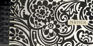 Black/White Floral Print Photo Album