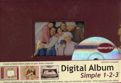 Digital Album Simple 1-2-3 Software Included:(Burgundy)