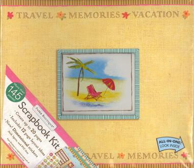 Travel-Memories-Vacation Scrapbook/Photo Album Kit