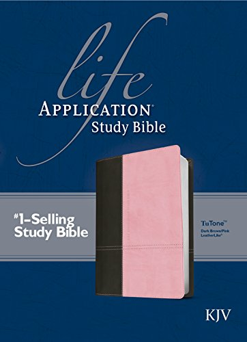 KJV Life Application Study Bible (TuTone Dark Brown/Pink Imitation Leather)