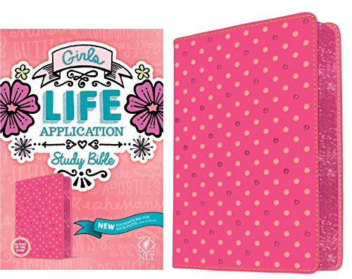 NLT Girls Life Application Study Bible (Pink Glow, Imitation Leather)
