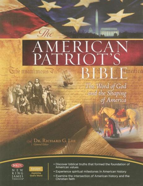 The American Patriot's Bible: The Word of God and the Shaping of America (NKJV, 4325, Black Bonded Leather, Gilded-Gold Page Edges)