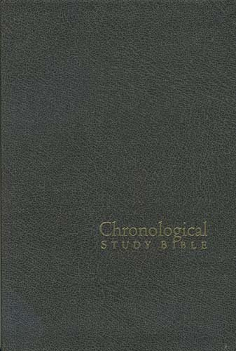 Chronological Study Bible (2385- Distressed Charcoal Bonder Leather Bible/ NKJV)