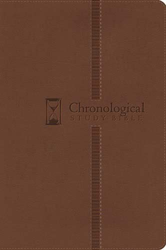 Chronological Study Bible (2383BR- Brown Leathersoft, NKJV, Gold-Gilded Page Edges)