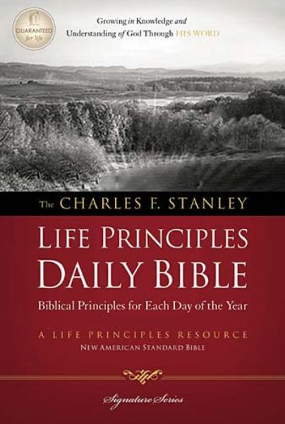 The Charles F. Stanley Life Principles Daily Bible (3860, NASB/Devotional)