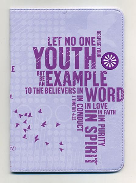 Compact UltraSlim Holy Bible, Designer Series (NKJV/Text, 3163P - Powder Purple Leathersoft, Gilded-Silver Page Edges)