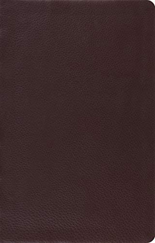 ESV Large Print Thinline Reference Bible (Top Grain Brown Leather)