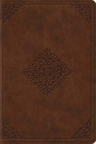 ESV Study Bible Personal Size (TruTone Saddle, Ornament Design)