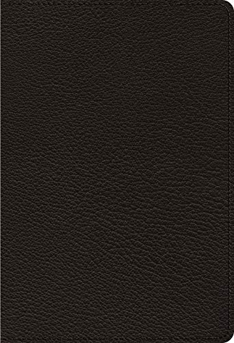 ESV Heirloom Single Column Personal Size Bible (Black Goatskin)