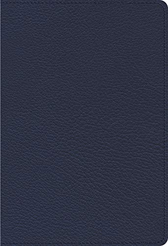ESV Heirloom Single Column Personal Size Bible (Blue Goatskin)